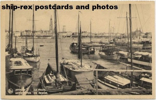 Antwerp (Belgium) port, postcard (d)